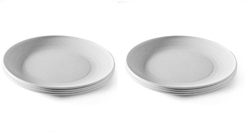 Nordic Ware Microwave Safe Plates 8 Piece Eco-Friendly Dinner Plate Set (8) (Melamine Dinner Ware compare prices)