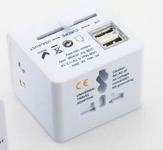 Newdigi? Universal World-Wide Travel Adapter With Usb Port(Built-In Dual Usb)