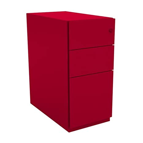 Bisley NW352M7SSF 64 cm Note Pedestal 2 Stationery and 1 filing Drawer - Cardinal Red