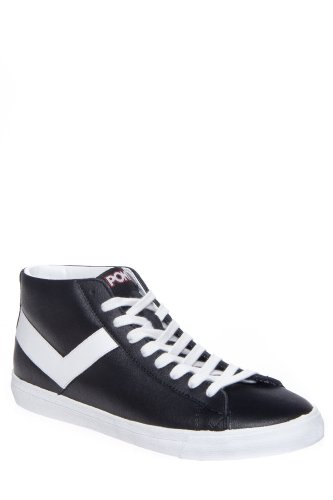 PONY Men'S Topstar Hi Leather Sneaker