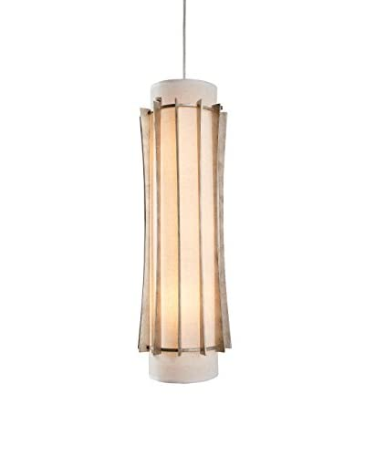 Varaluz Occasion 3-Light Foyer Pendant, Zen Gold/Tan Silk