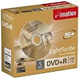 Dvd+r 4.7gb Lightscribe 16x Speed Jewel Case 5 Pack
