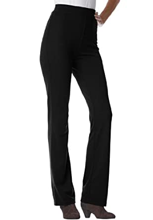 Women's Plus Size Pants, Boot-Cut In Ponte Knit at Amazon