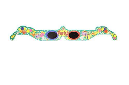 3D Holographic Glasses: See PARTY at Any Bright Point of Light