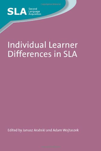 Individual Learner Differences in SLA (Second Language Acquisition)