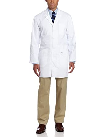 Dickies 37 Inch Unisex iPad Lab Coat, White, X-Small