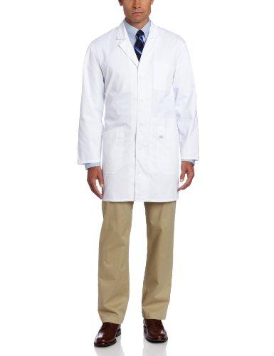 Dickies 37 Inch Unisex iPad Lab Coat, White, X-Large