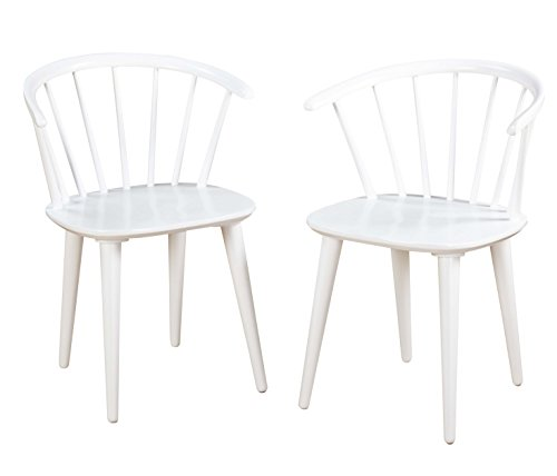 Target Marketing Systems Set Of 2 Florence Dining Chairs With Low Windsor Spindle Back Set Of 2