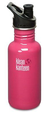 Klean Kanteen Bpa Free 18Oz (532Ml) Classic Water Bottle W/ Sport Cap 3.0 (Pink Anemone) front-1016972