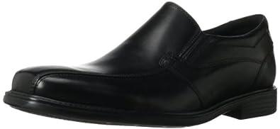 Clarks Men's Quid Felix Slip-On,Black Leather,7 M US