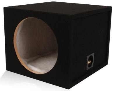 "1.5 Cu Ft - Single 12"" Sealed Mdf Subwoofer Enclosure (Belva Mdfs1215) 12-Inch Sealed Car Sub Box Made With 3/4"" Mdf And Lined W/ Polyfil (1.5 Cu Ft Airspace)"