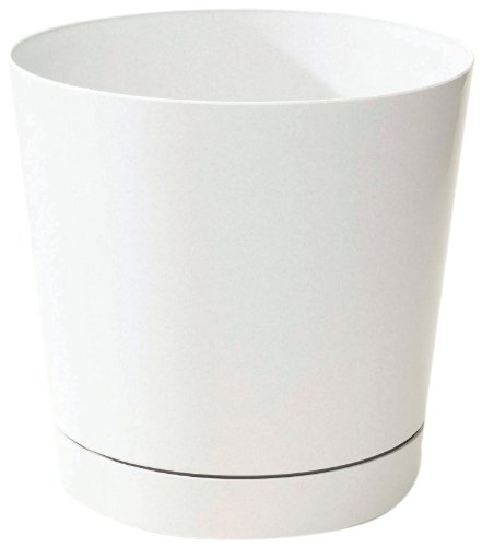 Novelty 10082 Full Depth Round Cylinder Pot, White, 8-Inch (Planter Pots Indoor compare prices)
