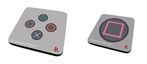 Set Di 2 Sottobicchieri: Playstation - Controller + Square (9x9 cm)