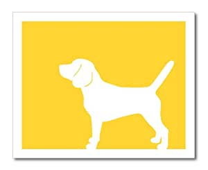 Amazon.com: Beagle Silhouette Print (version 2), 8 x 10 Inches in
