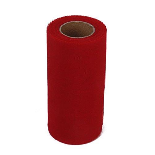 WINOMO Tulle bricolage Artisanat Tutu décoration pour le Banquet de mariage 22M*15CM(Red)