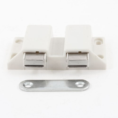 6.6Cm Width Double Touch Press Door Magnetic Catch Latch White front-1023544