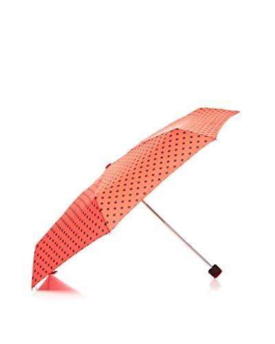 Dots Paraguas Topos Negros Naranja