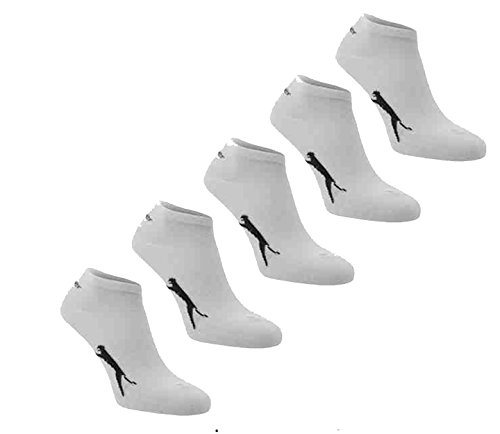 5-x-Slazenger-BoysGirls-Childrens-Childs-Trainer-Socks-Liner-Ankle-Sports-No-Show-WHITEBLACK-Size-UK-1-6
