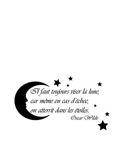 ZZ-Ambiance-sticker Vinilo Decorativo French Quote Oscar Wilde -Il Faut Toujours Viser La Lune…