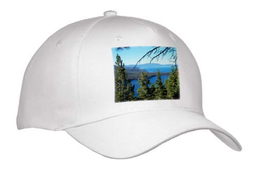 Sandy Mertens Nevada - Fallen Leaf Lake And Lake Tahoe South Shore - Caps - Adult Baseball Cap front-1039268