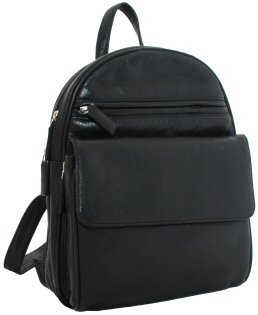 Visconti Leather Backpack Style 01433 Black