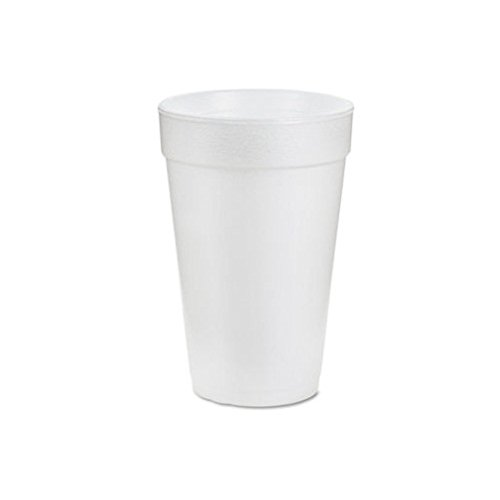 Dart Container Corp. DRC16J16 Insulated Styrofoam Cup- 16 oz- 1000-CT- White