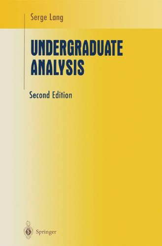Undergraduate Analysis (Undergraduate Texts in Mathematics)