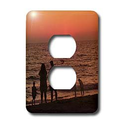 Florene Sunset - Vacation - Light Switch Covers - 2 plug outlet cover