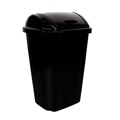 Hefty Swing-lid 13.5-gallon Trash Can, Black by N/A (Hefty Garbage Can compare prices)