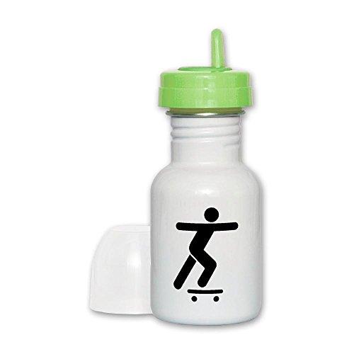 Sippy Cup Lime Lid Skateboard Skater Traffic Symbol