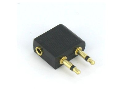"Airline Headphone Adapter 1/8"" 3.5Mm To Dual 3.5Mm Plug"