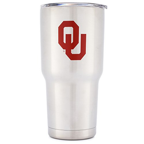 Simple Modern University of Oklahoma Vacuum Insulated Tumbler - Double Walled 18/8 Stainless Steel Travel Mug - OU Sooners Licensed College Tailgating Flask - Coffee Cup - Spirit Collection - 30oz (Team Spirit Bottle Holder compare prices)