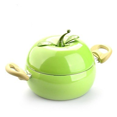 Non-Stick Apple Type Sauce Pot with Cover Aluminium Alloy 7.9″7.9″*3.5″