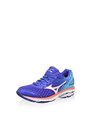 Mizuno Zapatillas de Running Wave Rider 19 (Azul / Blanco)
