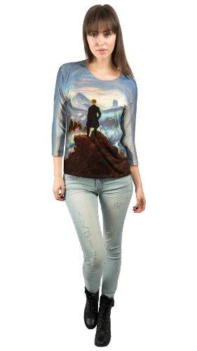 "Yizzam - Friedrich - ""Wanderer Above the Se......""- New Ladies Womens 3/4 Sleeve"