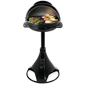 George Foreman GIPOD200 IPOD and MP3 Ready Indoor/Outdoor Grill White/Silver