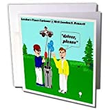 Londons Times Funny Music Cartoons – Golf Drivers – Greeting Cards-6 Greeting Cards with envelopes