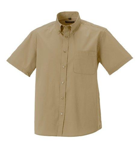 russell-collection-twill-r-917m-0-camisa-de-manga-corta-diseno-clasico