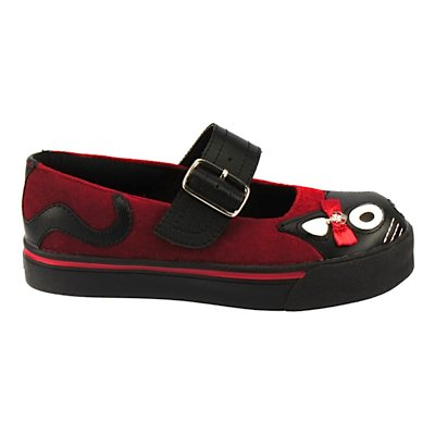 Tuk. MJ-Sneaker VELVET ANCHOR BOW KITTY red, Rosso (Rosso), 36 EU