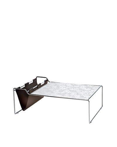 Domitalia Bijou Rectangular Coffee Table, Silver/White