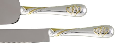 Hortense B. Hewitt Wedding Accessories Cake And Knife Serving Set, Linked At The Heart