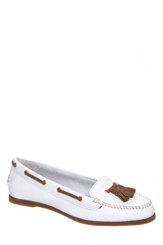 Sabrina Tassled Moc Toe Loafer Flat Shoe