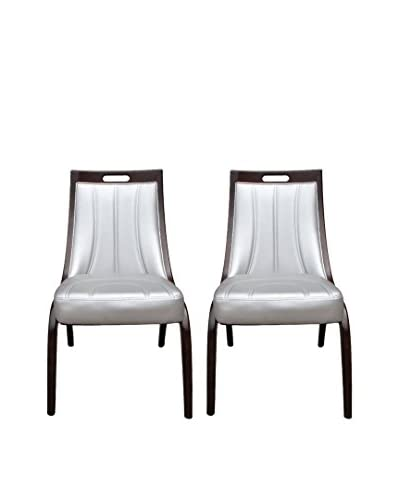 International Design Danube Set of 2 Dining Chairs, Silver