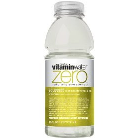 Glaceau Vitamin Water Nutrient Enhanced Water Beverage ZERO, Squeezed Lemonade, 20 oz (Pack of 24)