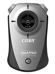Coby Electronics CX-71 BLK Mini AM/FM Pocket Radio with Hand Strap (Black)