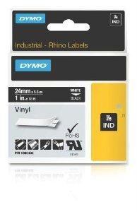 "Brand New Dymo Rhino 1In Black Vinyl-24Mm ""Product Category: Business Machine Supplies / Label Maker Tapes And Accessories"" front-957348"