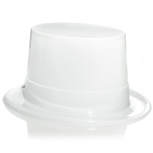 White Plastic Topper Party Accessory (1 count)