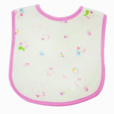 Hello Kitty Baby Cotton Bib Pink Toy Print - 1