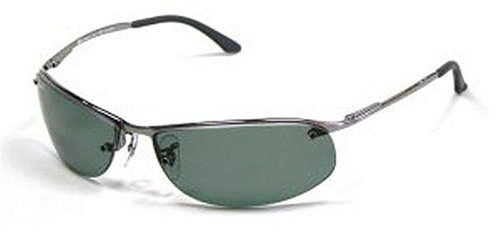 Ray-Ban RB 3179-004/9A Gunmetal SIDESTREET Sunglasses With POLARIZED Grey Green Lenses-63mm