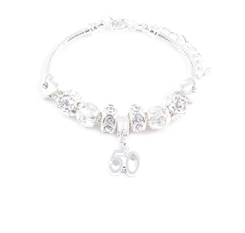 50th Birthday Charm Bracelet Women's Pandora